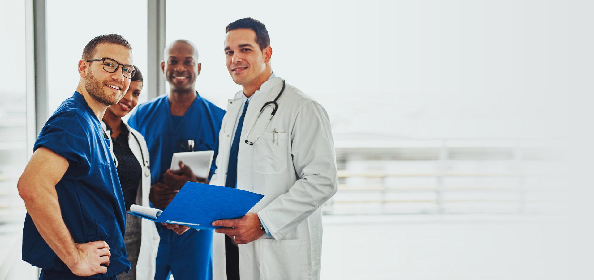 medical staff smiling